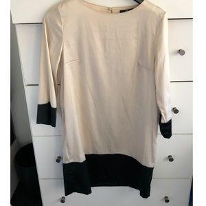 H&M 3/4 sleeve satin finish work dress